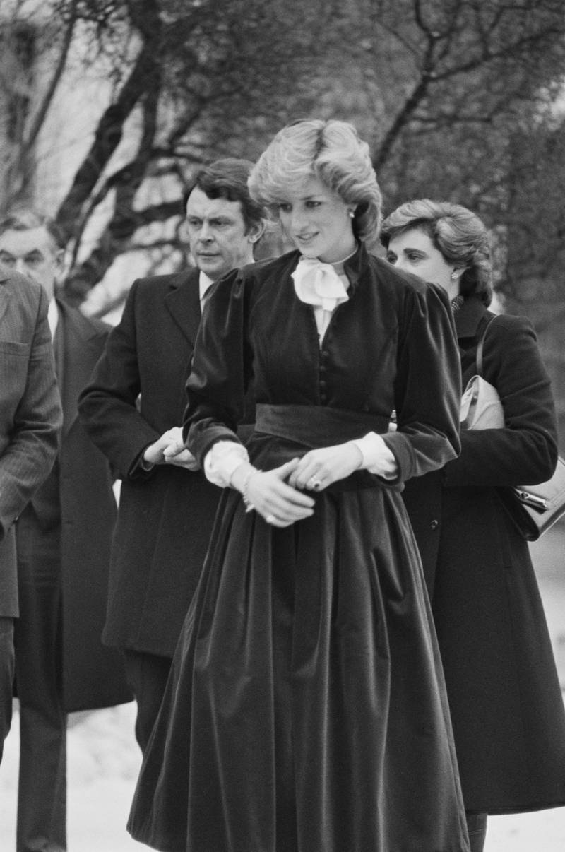 Diana, Princess of Wales (1961 - 1997) at the British Embassy in Oslo, Norway, 12th February 1984. (Photo by Smith/Daily Express/Hulton Archive/Getty Images)