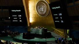 More than 120 countries condemn US Jerusalem decision
