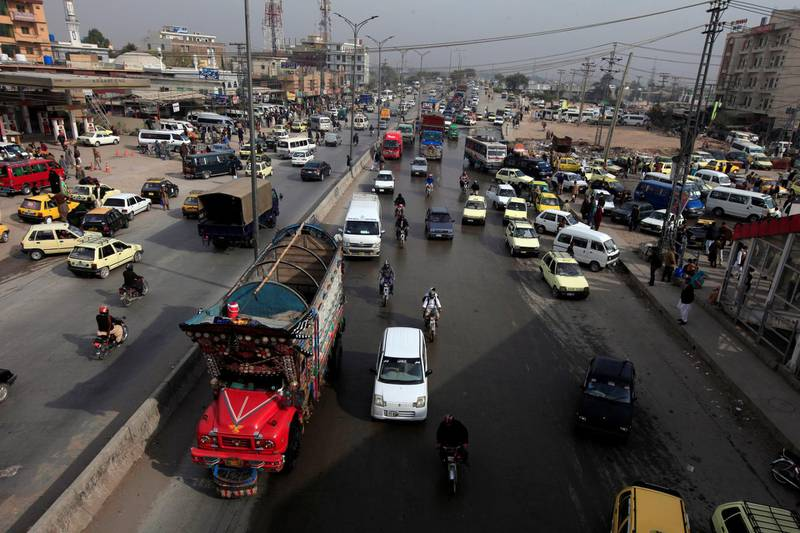REFILE - CORRECTING TYPO Traffic is seen near the Faizabad junction a day after the Tehreek-e-Labaik Pakistan Islamist political party called off nationwide protests in Islamabad, Pakistan November 28, 2017. REUTERS/Faisal Mahmood