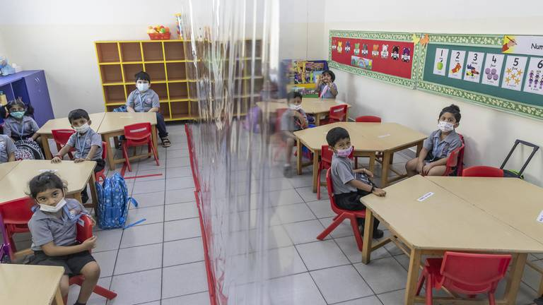 An image that illustrates this article Dubai's private schools prepare for all pupils to return