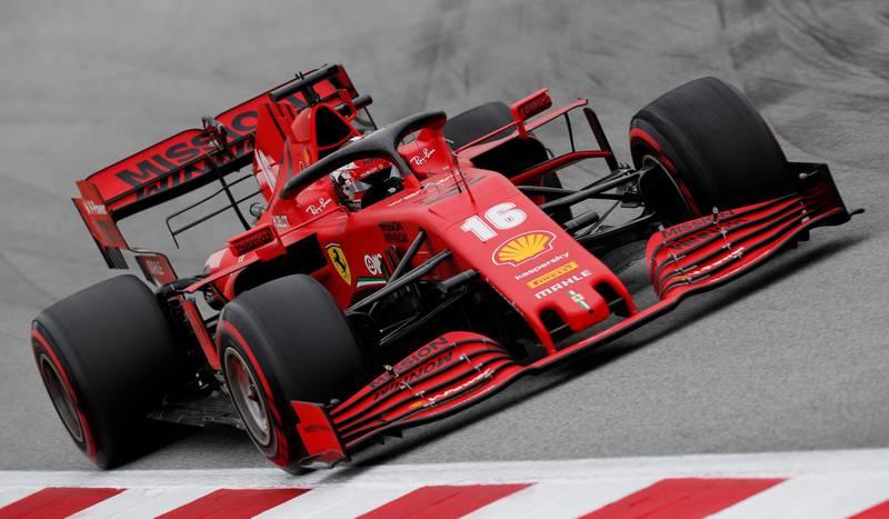 Formula One F1 - Pre Season Testing - Circuit de Barcelona-Catalunya, Barcelona, Spain - February 28, 2020   Ferrari's Charles Leclerc in action during testing   REUTERS/Albert Gea
