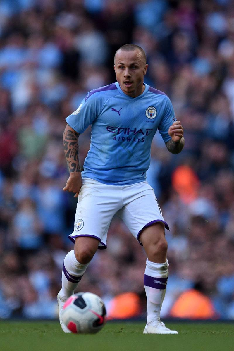 Manchester City's Spanish defender Angelino controls the ball during the English Premier League football match between Manchester City and Watford at the Etihad Stadium in Manchester, north west England, on September 21, 2019. (Photo by Oli SCARFF / AFP) / RESTRICTED TO EDITORIAL USE. No use with unauthorized audio, video, data, fixture lists, club/league logos or 'live' services. Online in-match use limited to 120 images. An additional 40 images may be used in extra time. No video emulation. Social media in-match use limited to 120 images. An additional 40 images may be used in extra time. No use in betting publications, games or single club/league/player publications. /