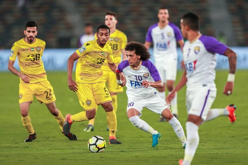 Abu Dhabi, UAE.  May 3, 2018.   President's Cup Final, Al Ain FC VS. Al .Wasl. Omar Abdulrhaman in action. Victor Besa / The NationalSportsReporter: John McAuley
