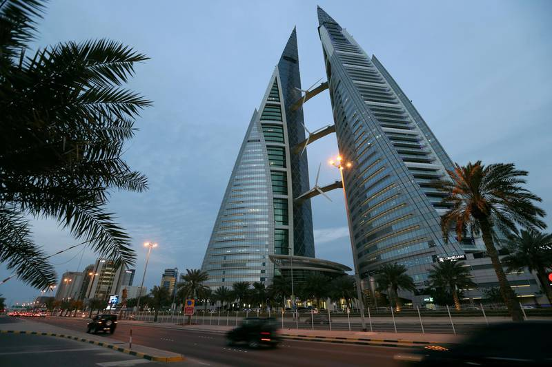 FILE PHOTO: General view of the Bahrain World Trade Center in Manama, Bahrain, February 21, 2019. REUTERS/Hamad I Mohammed/File Photo