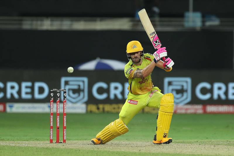 Faf du Plessis of Chennai Superkings during match 7 of season 13 of the Dream 11 Indian Premier League (IPL) between Chennai Super Kings and Delhi Capitals held at the Dubai International Cricket Stadium, Dubai in the United Arab Emirates on the 25th September 2020.  Photo by: Ron Gaunt  / Sportzpics for BCCI