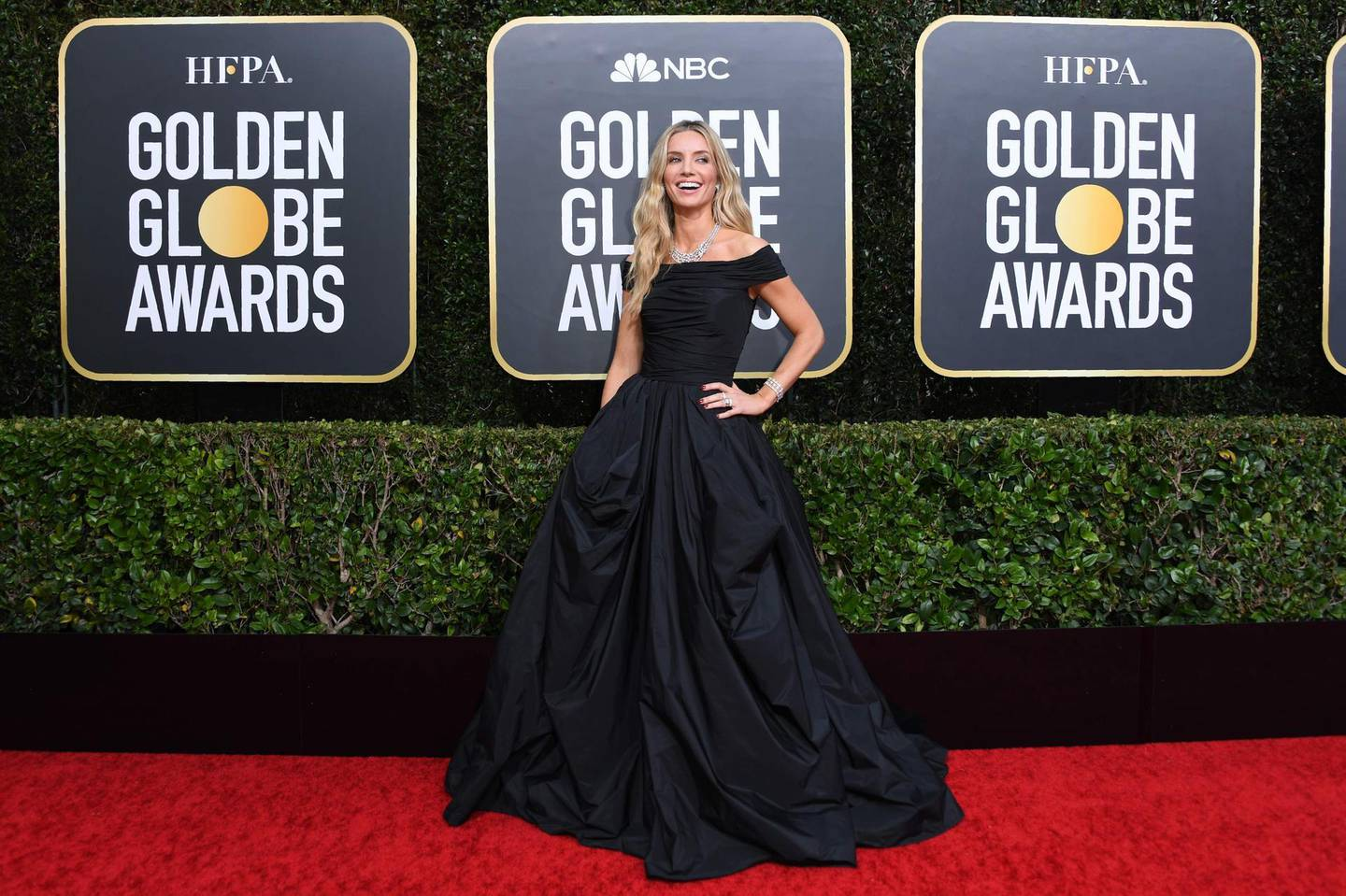 Actress Annabelle Wallis arrives for the 77th annual Golden Globe Awards on January 5, 2020, at The Beverly Hilton hotel in Beverly Hills, California.  / AFP / VALERIE MACON