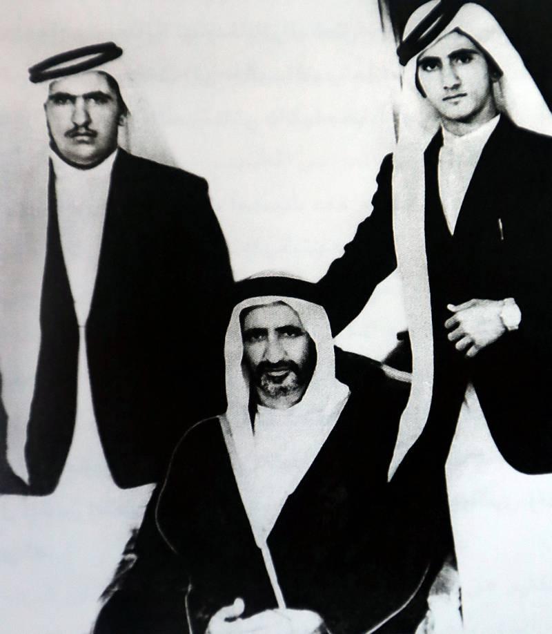 With my father and brother Sheikh Hamdan Bin Rashid Al Maktoum in 1963