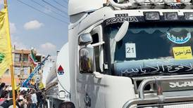 Residents cheer as lorries carrying Iranian fuel arrive in Lebanon