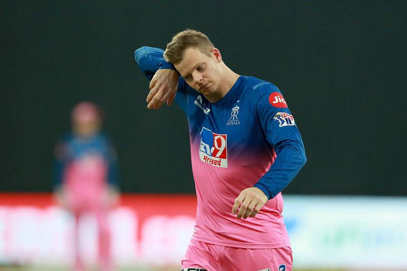 Steve Smith captain of Rajasthan Royals during match 9 of season 13 of the Indian Premier League (IPL) between Rajasthan Royals and Kings XI Punjab held at the Sharjah Cricket Stadium, Sharjah in the United Arab Emirates on the 27th September 2020.  Photo by: Rahul Gulati  / Sportzpics for BCCI