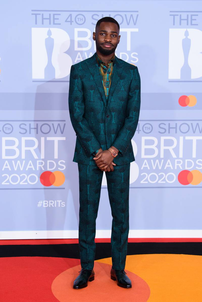 LONDON, ENGLAND - FEBRUARY 18: (EDITORIAL USE ONLY) Dave attends The BRIT Awards 2020 at The O2 Arena on February 18, 2020 in London, England. (Photo by Joe Maher/Getty Images for Bauer Media)