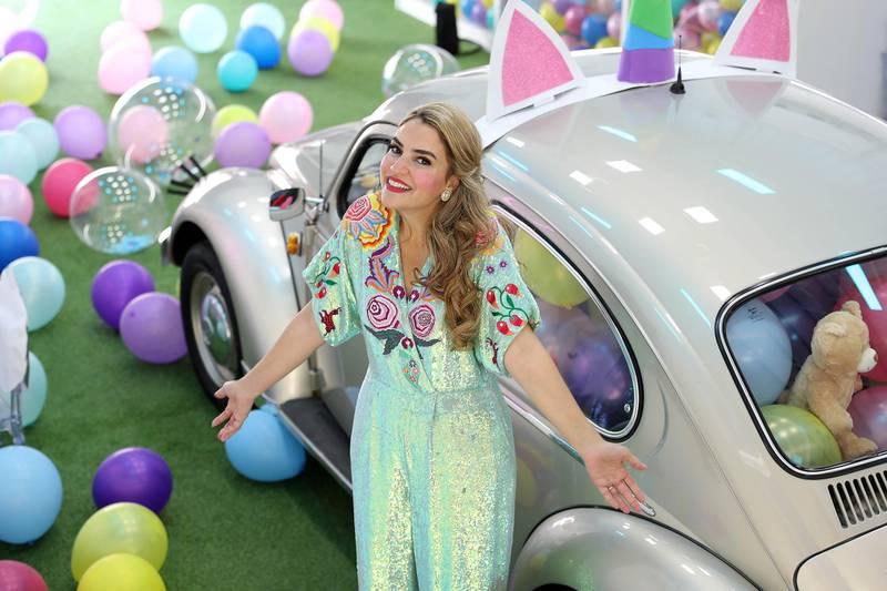 DUBAI , UNITED ARAB EMIRATES , NOV 18   – 2017 :- Jumana Al Darwish , founder during the launch of 'The Happy Studio' in Alserkal Avenue in Dubai. (Pawan Singh / The National) Story by Hala Khalaf