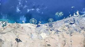 Striking view of Dubai's Palm Jumeirah from space