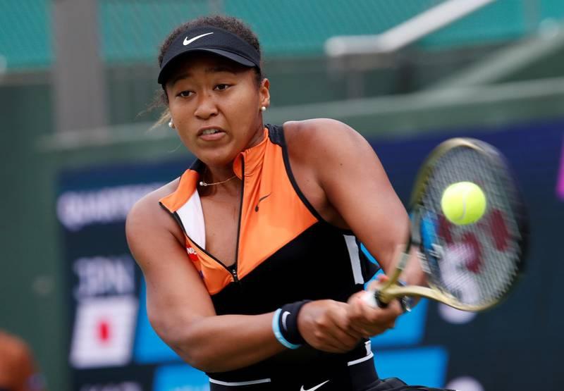 FILE PHOTO : Tennis - Pan Pacific Open Women's Singles Quarter-final match - Utsubo Tennis Center, Osaka, Japan - September 21, 2019. Japan's Naomi Osaka in action. REUTERS/Kim Kyung-Hoon/File Photo