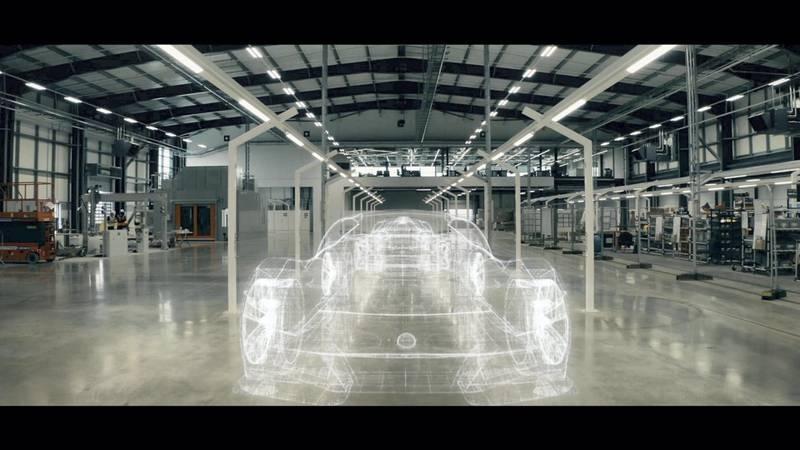 Emira Type 131 Production Facility with Wireframe Overlay. courtesy: Lotus