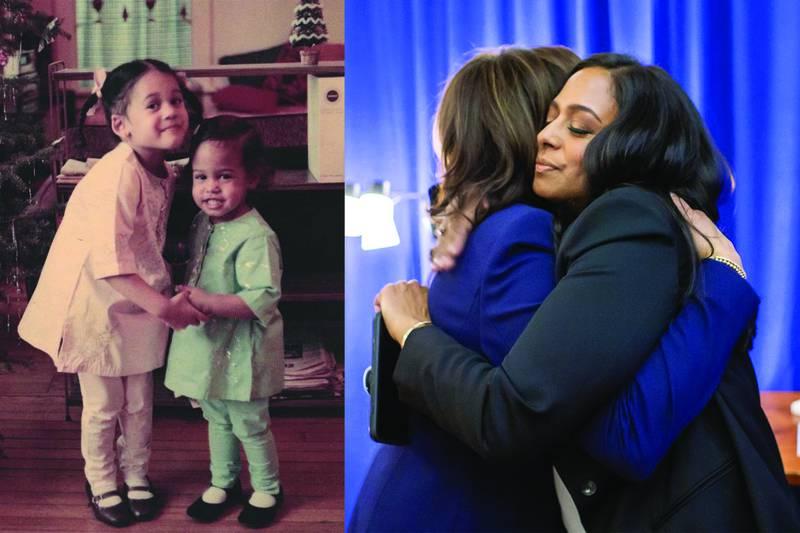 Kamala Harris with her young sister Maya. Instagram/ kamalaharris