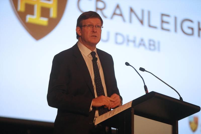 12 - November - 2013, Saadiyat Island, Abu Dhabi   In the photo: Michael Wilson, Headmaster of Cranleigh Prep School, UK Talking about Cranleigh Abu Dhabi. Fatima Al Marzooqi/ The National.  *** Local Caption ***  FM_Cranleigh2013_001.JPG