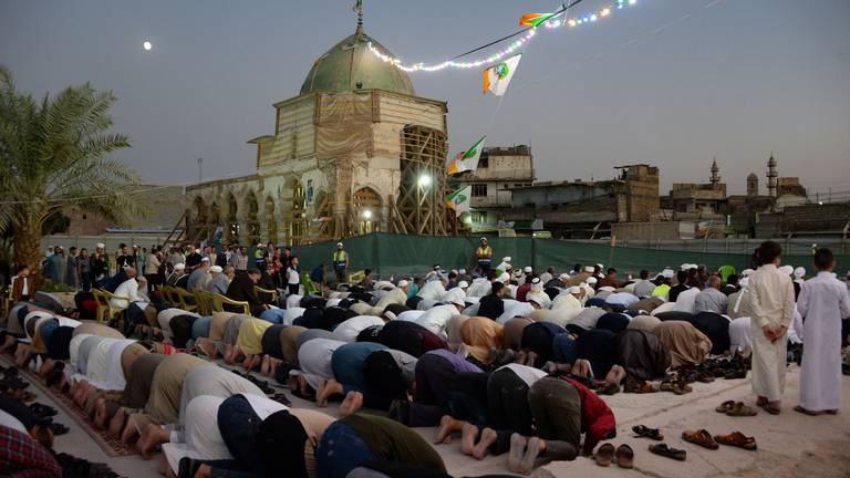 An image that illustrates this article Iraqis celebrate Prophet Muhammed's Birthday in Mosul