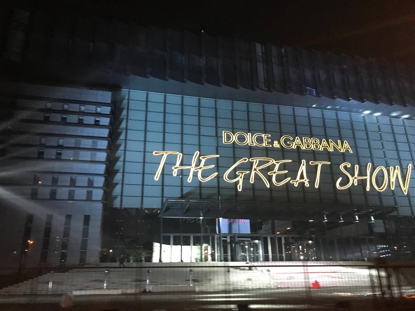 epa07182365 A general view of the venue for The Great Show of Dolce and Gabbana in Shanghai, China, 19 November 2018 (issued 22 November 2018). The Italian luxury fashion house canceled The Great Show in Shanghai hours before the scheduled time after celebrities boycotted invites made by its designer and co-founder Stefano Gabbana, following the brand's Instagram comments that were deemed racist towards China.  EPA/STR CHINA OUT