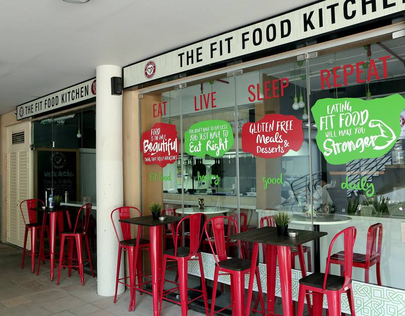 Dubai, 08, August, 2017: The  Fit Food Kitchen  restaurant at the Jumeirah Lake Towers in Dubai. ( Satish Kumar /  For The National ) Story by Nick Webster