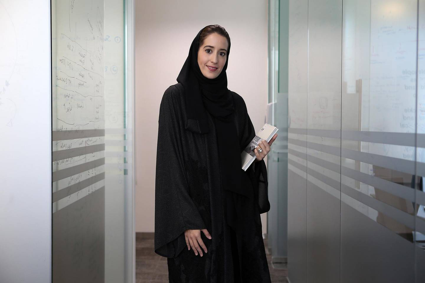 DUBAI , UNITED ARAB EMIRATES – June 13 , 2016 : Laila Abdullatif , Deputy Director General of Emirates Wildlife Society at her office in Al Barsha Business Point Building in Al Barsha 1 in Dubai. ( Pawan Singh / The National ) For Weekend. Story by Melinda Healy. ID no : 33356 *** Local Caption ***  PS1306- LAILA04.jpg
