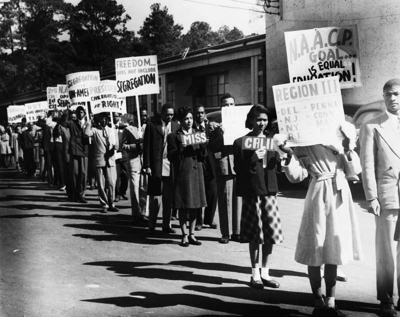 ca. 1950, USA --- African Americans Protesting Segregation --- Image by �� CORBIS