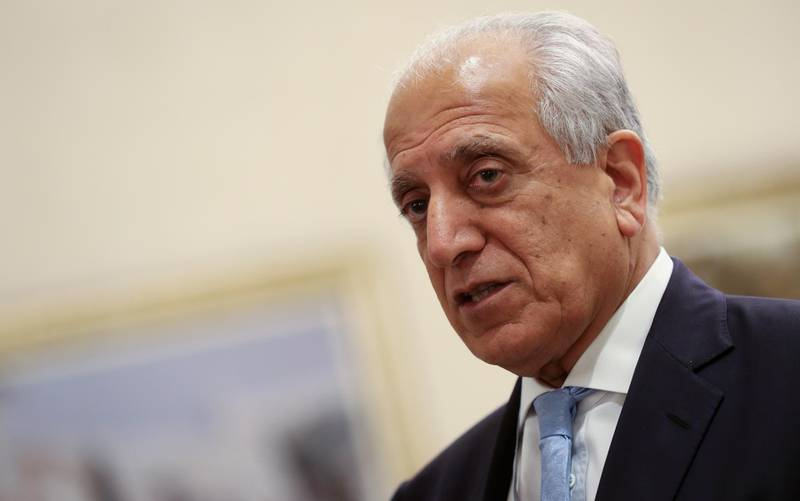 US Special Representative for Afghanistan Reconciliation Zalmay Khalilzad attends the Intra Afghan Dialogue talks in the Qatari capital Doha on July 8, 2019. - Dozens of powerful Afghans met with a Taliban delegation on July 8, amid separate talks between the US and the insurgents seeking to end 18 years of war. The separate intra-Afghan talks are attended by around 60 delegates, including political figures, women and other Afghan stakeholders. (Photo by KARIM JAAFAR / AFP)
