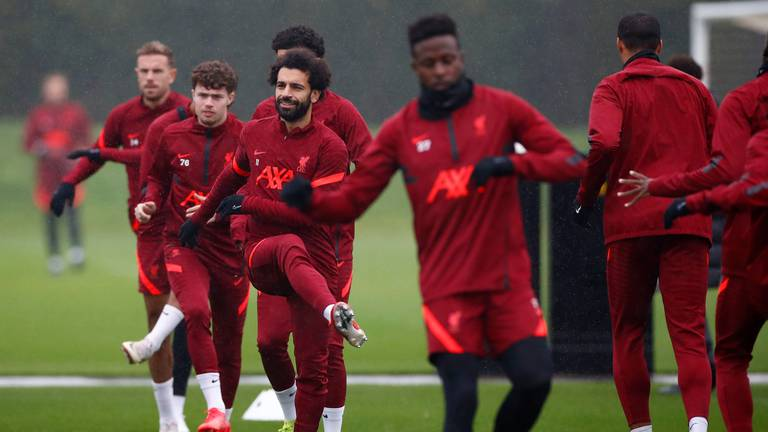 An image that illustrates this article Salah, Mane and Firmino train with Liverpool ahead of Atletico clash