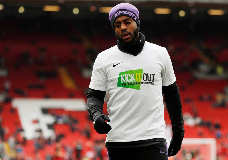 """FILE PHOTO: Soccer Football - Premier League - Liverpool v Tottenham Hotspur - Anfield, Liverpool, Britain - March 31, 2019  Tottenham's Danny Rose during the warm up before the match  Action Images via Reuters/Paul Childs  EDITORIAL USE ONLY. No use with unauthorized audio, video, data, fixture lists, club/league logos or """"live"""" services. Online in-match use limited to 75 images, no video emulation. No use in betting, games or single club/league/player publications.  Please contact your account representative for further details./File Photo"""