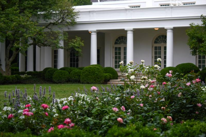 A general view of the renewed White House Rose Garden, from where first lady Melania Trump will address the Republican National Convention on August 25, during a media preview hosted by her office in Washington, D.C., U.S. August 22, 2020. REUTERS/Erin Scott