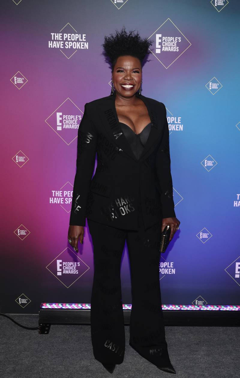 SANTA MONICA, CALIFORNIA - NOVEMBER 15: 2020 E! PEOPLE'S CHOICE AWARDS -- In this image released on November 15, Leslie Jones attends the 2020 E! People's Choice Awards held at the Barker Hangar in Santa Monica, California and on broadcast on Sunday, November 15, 2020. (Photo by Todd Williamson/E! Entertainment/NBCU Photo Bank via Getty Images)