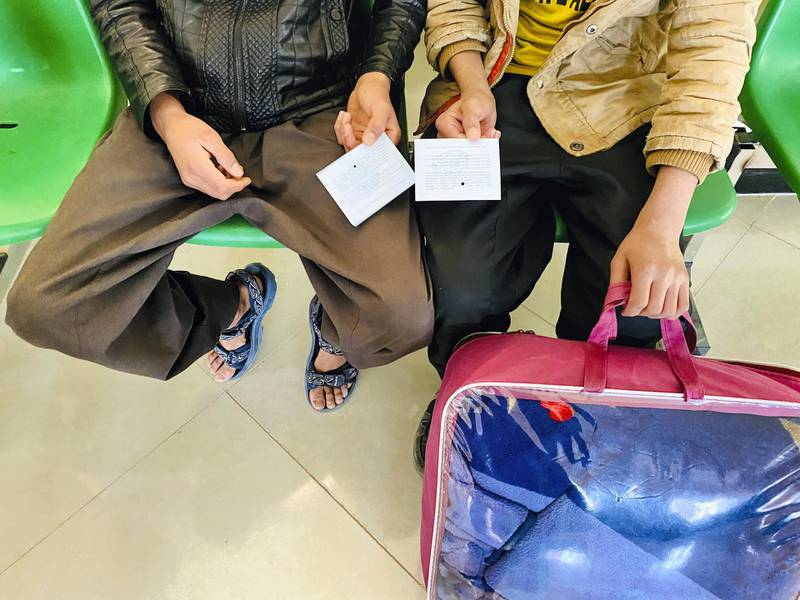 IMG_0756 Brothers Bilal and Abdul Mohammadi, [not their real names], age 13 and 12 respectively, receive help from humanitarian workers who help them reach their families. Aid workers inform that many young boys face abuse while in detention in Iran. [Photo: Hikmat Noori]