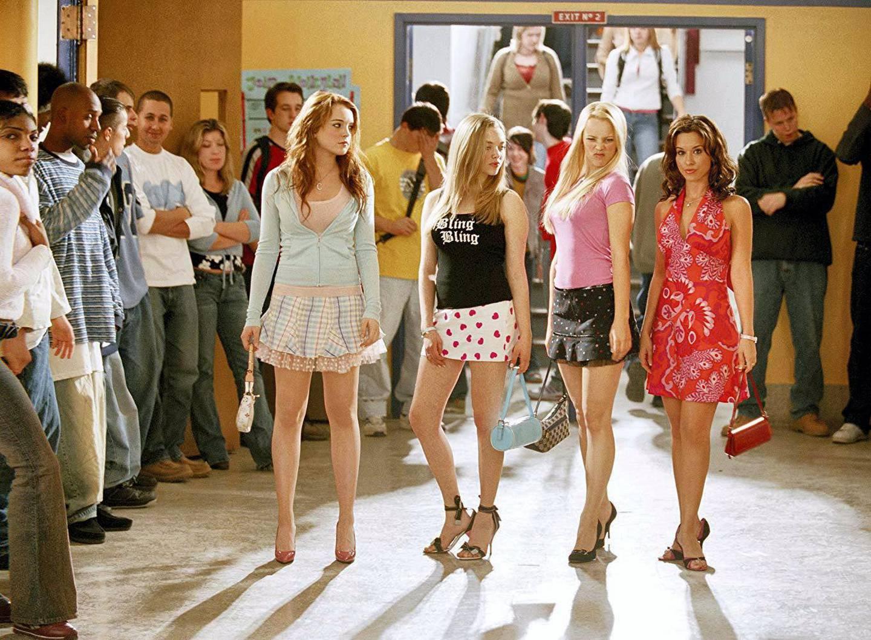 Lacey Chabert, Lindsay Lohan, Rachel McAdams, and Amanda Seyfried in Mean Girls (2004) IMDb