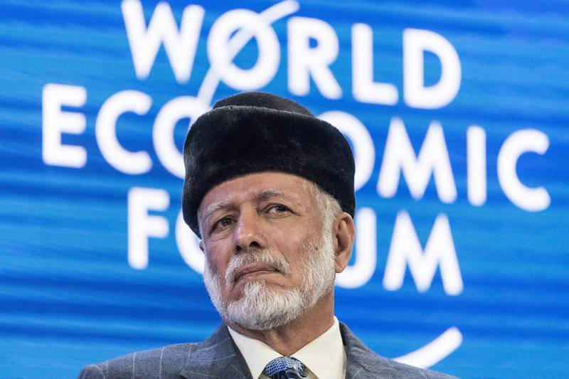 epa08150066 Yousuf Bin Alawi Bin Abdullah, Minister of Foreign Affairs of Oman, addresses a panel session during the 50th annual meeting of the World Economic Forum (WEF) in Davos, Switzerland, 22 January 2020. The meeting brings together entrepreneurs, scientists, corporate and political leaders in Davos under the topic 'Stakeholders for a Cohesive and Sustainable World' from 21 to 24 January 2020.  EPA/ALESSANDRO DELLA VALLE