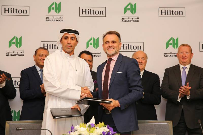 Mohammed Al Habtoor and Ian R. Carter at the signing ceremony. Courtesy Al Habtoor Group