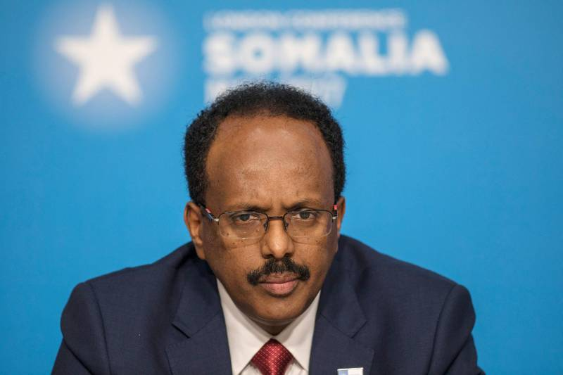 LONDON, UNITED KINGDOM - MAY 11:   Abdullahi Mohamed, President of Somalia attends the London Conference on Somalia at Lancaster House on May 11, 2017 in London, England. (Photo by Jack Hill - WPA Pool/Getty Images)