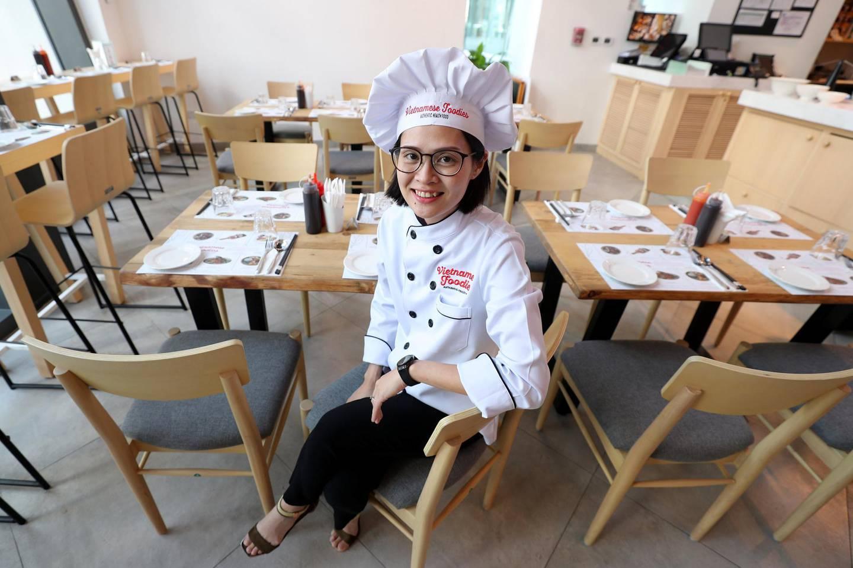 Dubai, United Arab Emirates - June 23, 2019: Lily Hoa Ngyuen for the Money & Me column at Vietnamese Foodies restaurant. Sunday the 23rd of June 2019. Downtown, Dubai. Chris Whiteoak / The National
