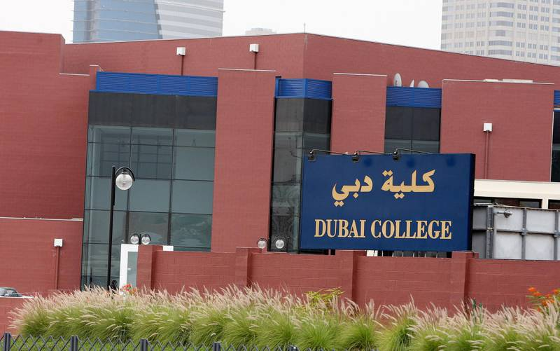 DUBAI, UNITED ARAB EMIRATES – April 3: View of the Dubai College building on Al Sufouh road in Dubai. (Pawan Singh / The National) For News.   *** Local Caption ***  PS01- DUBAI COLLEGE.jpg