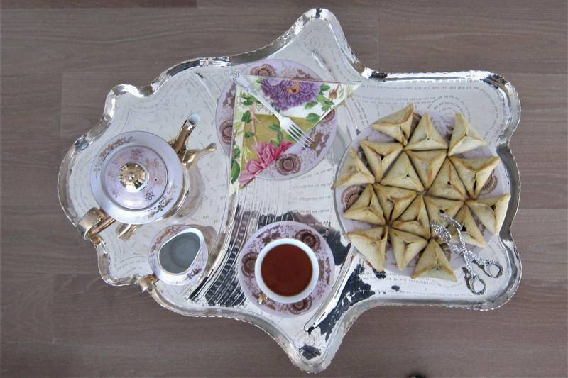 Ousama Ghannoum's fatayer el sabanich (spinach pies). Credit: Table Tales / Ousama Ghannoum