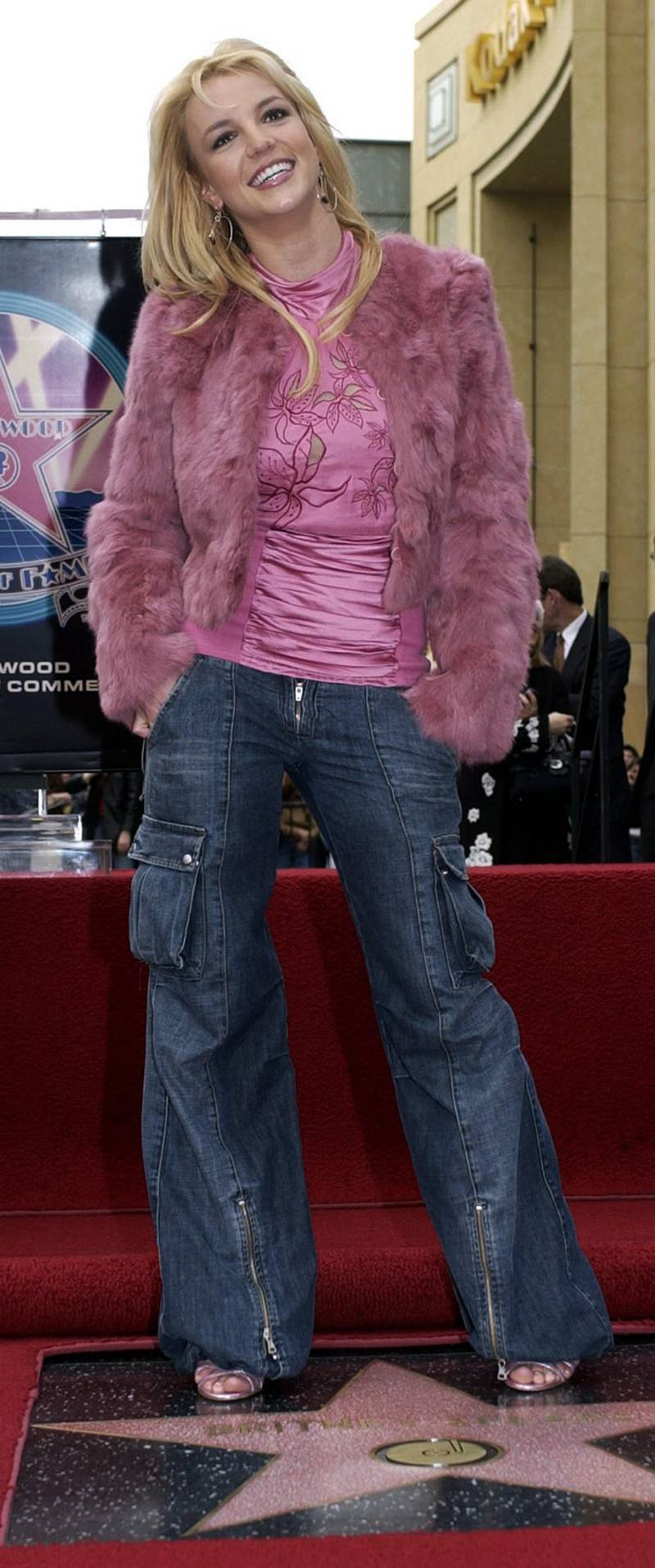 (FILES) A file picture taken in 2003 of US singer Britney Spears on the Hollywood Walk of Fame. Britney Spears married childhood friend Jason Alexander, both 22 years, from Lousiana at the Little White Wedding Chapel on the Las Vegas Strip, Saturday 03 January 2004. Britney and Jason arranged a signed annulment Saturday afternoon which will become official when the courts open on Monday morning 05 January.  EPA/Javier Rojas