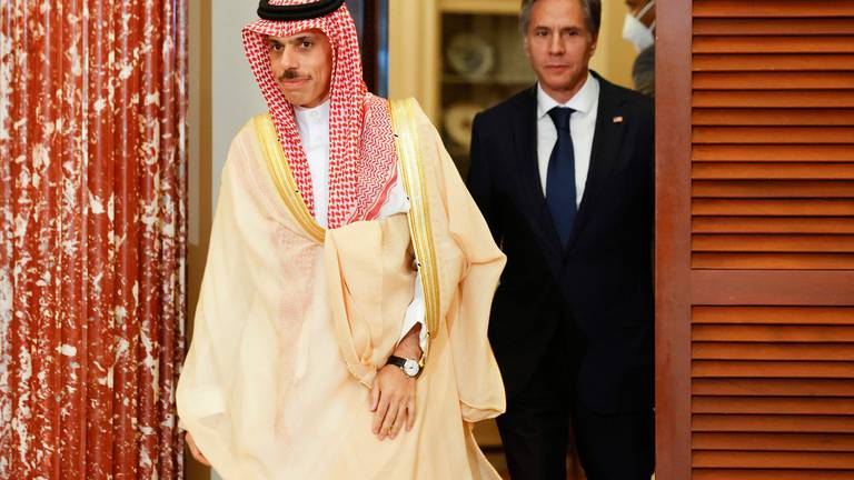 An image that illustrates this article Saudi foreign minister in Washington to discuss Yemen and Iran