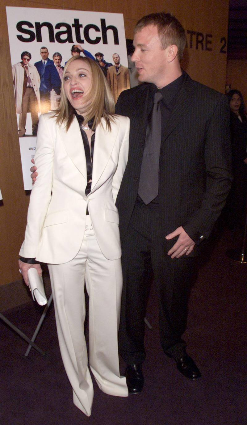 Guy Ritchie and his wife Madonna at the premiere of 'Snatch' at the Directors Guild, Los Angeles, Ca. 1/18/01. (Photo by Kevin Winter/Getty Images).