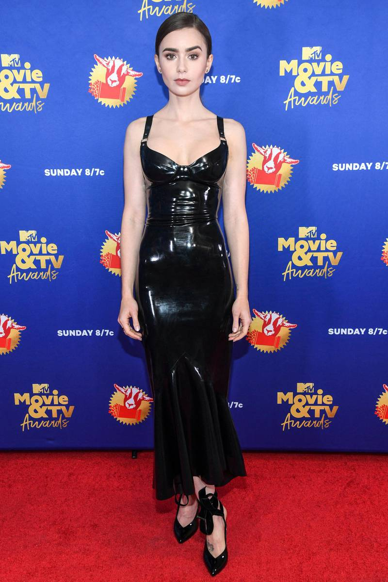 UNSPECIFIED - DECEMBER 6: In this image released on December 6, Lily Collins attends the 2020 MTV Movie & TV Awards: Greatest Of All Time broadcast on December 6, 2020. (Photo by Kevin Mazur/2020 MTV Movie & TV Awards/Getty Images for MTV Communications) (Photo by Kevin Mazur/2020 MTV Movie & TV Awards/Getty Images)
