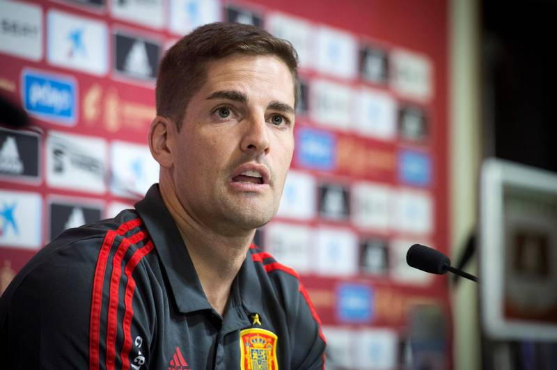 epa07814665 Spain's national soccer team head coach Robert Moreno attends a press conference in Madrid, Spain, 03 September 2019. Spain will face Romania in a UEFA EURO 2020 Group F qualifying soccer match on 05 September in Bucharest.  EPA/Luca Piergiovanni