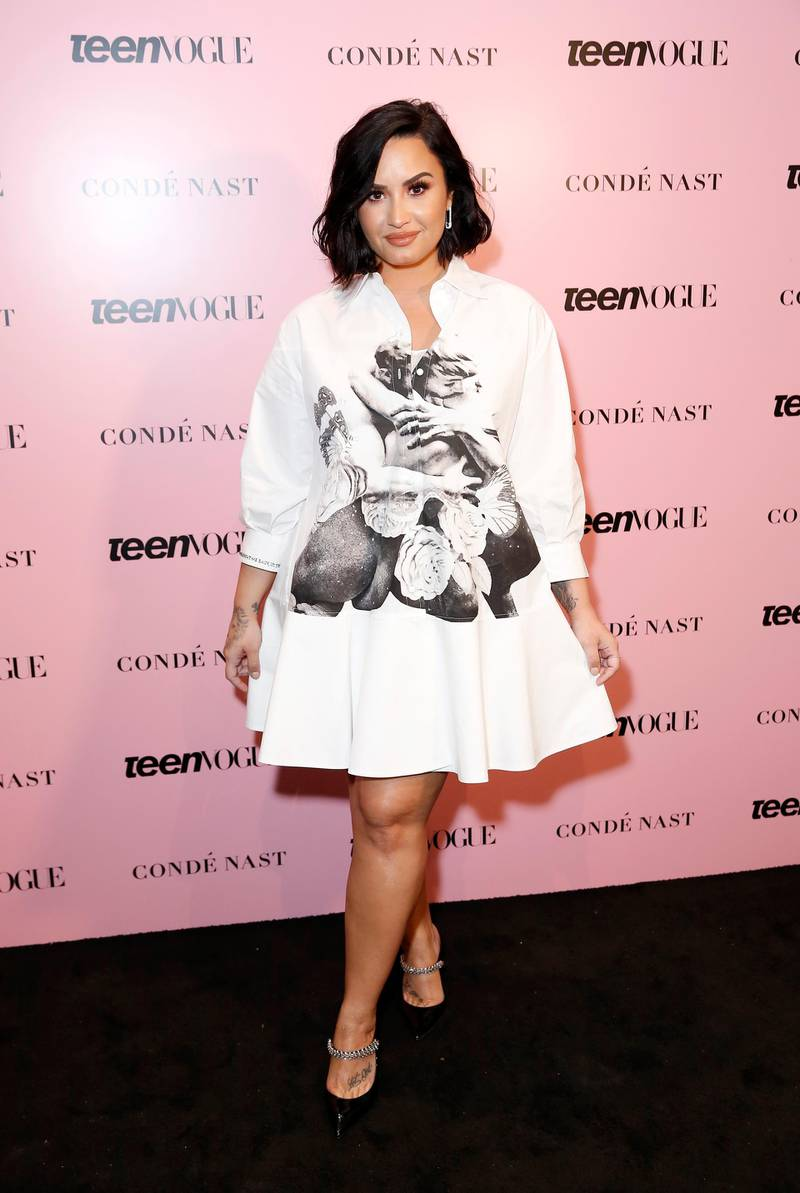 LOS ANGELES, CALIFORNIA - NOVEMBER 02: Demi Lovato attends the Teen Vogue Summit 2019 at Goya Studios on November 02, 2019 in Los Angeles, California.   Rachel Murray/Getty Images for Teen Vogue/AFP