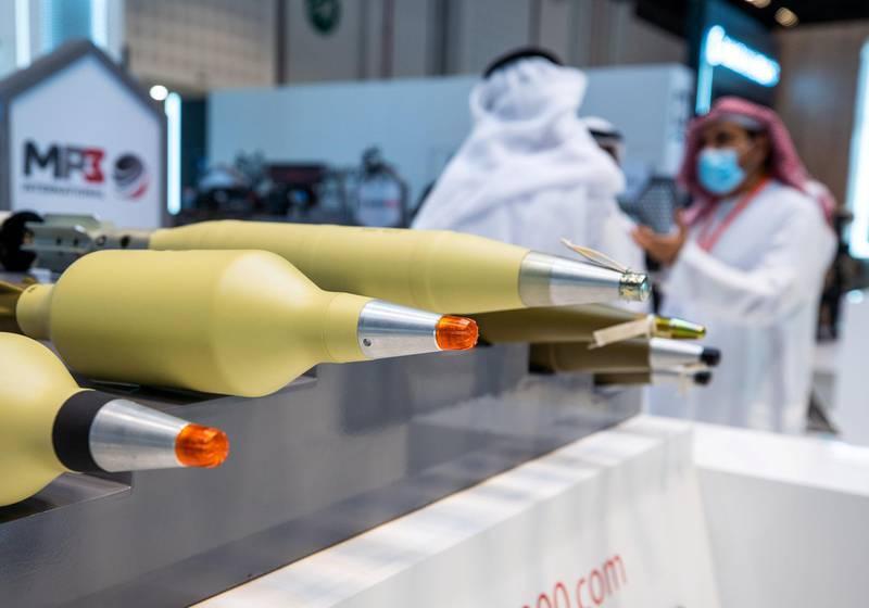 Abu Dhabi, United Arab Emirates, February 23, 2021.  Idex 2021 Day 3.Victor Besa / The NationalSection:  NAReporter: