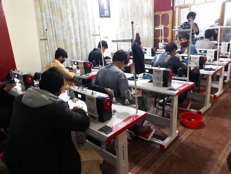 Production is underway in Rika Sadat's small factory in Herat, northwestern Afghanistan.