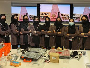 All-female Afghan robotics team at Qatar's Texas A&M University – in pictures