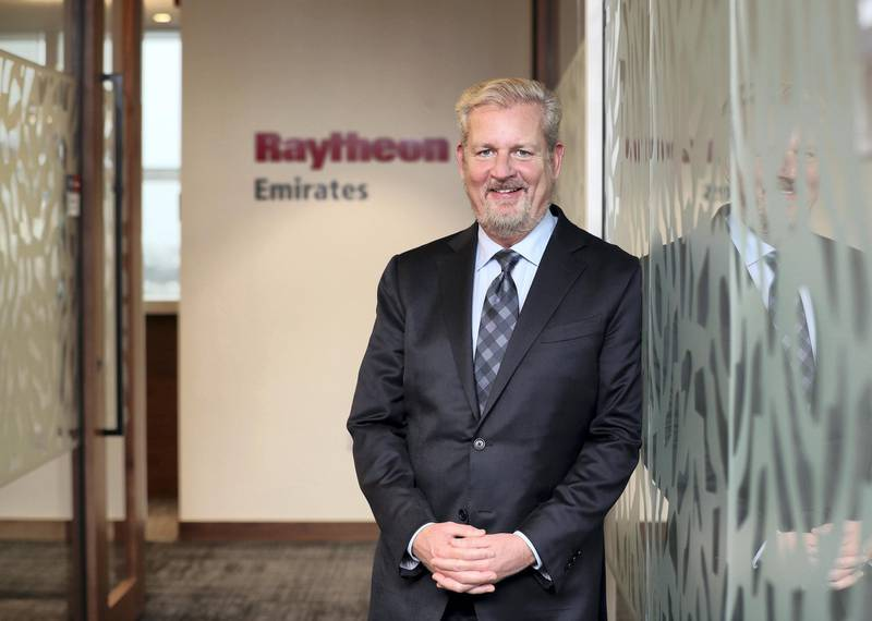 Abu Dhabi, United Arab Emirates - February 18, 2019: Dr Taylor W Lawrence (chairman Raytheon Emirates board and president Raytheon missile systems). Raytheon the US defence giant launch of their new Abu Dhabi office. Monday the 18th of February 2019 at ADGM, Abu Dhabi. Chris Whiteoak / The National