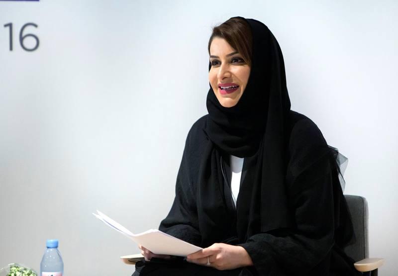 Dubai, United Arab Emirates - Lamia Khan, CEO of Global Women's Forum Dubai 2020 at the Global Women's Forum Dubai 2020 press conference at the Government of Dubai Media Office.  Leslie Pableo for The National