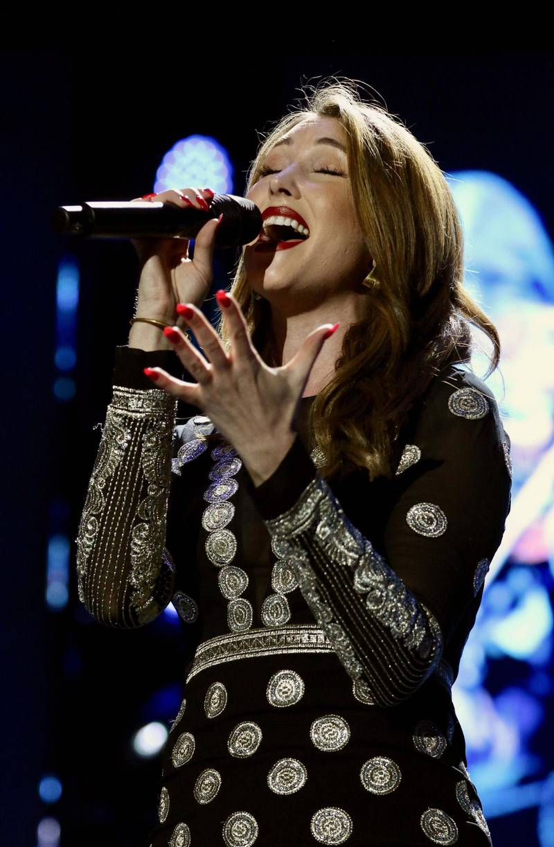 ANAHEIM, CALIFORNIA - JANUARY 25: Singer Loren Allred performs at the Yamaha All-Star Concert at 2019 NAMM Show at Anaheim Convention Center on January 25, 2019 in Anaheim, California. (Photo by Robin L Marshall/Getty Images)